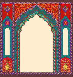 Background arch of res in the oriental style with vector