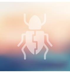 Beetle icon on blurred background vector