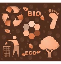 Bio icons vector image vector image