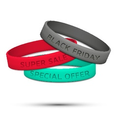 Black Friday rubber wristband vector