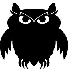 Black owl vector