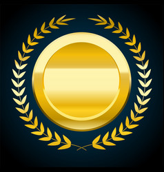 Blank gold token award vector