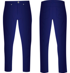 Blue pants vector