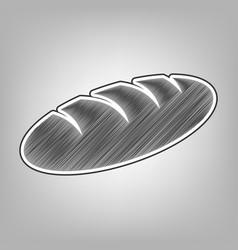 Bread sign pencil sketch imitation dark vector
