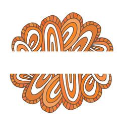 bright doodle background orange banner vector image