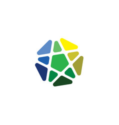 business logo abstract arrow star icon vector image