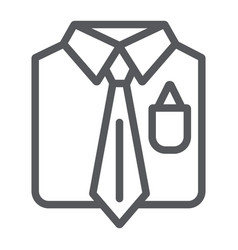 business suit line icon male and costume man vector image