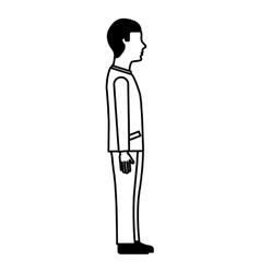 Businessman avatar isolated icon vector