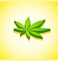 cannabis marijuana isometric design vector image