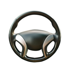 Car steering wheel realistic vector