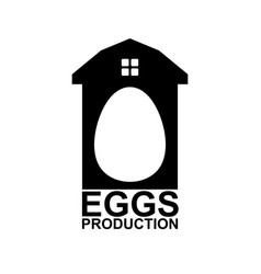 chicken farm emblem egg farm logo poultry factory vector image