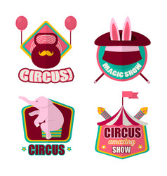 circus emblems set vector image