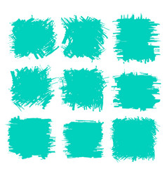 collection of smears with black paint strokes vector image