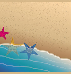 colorful background of the beach shore with vector image