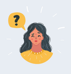 confused womanthinking girl vector image