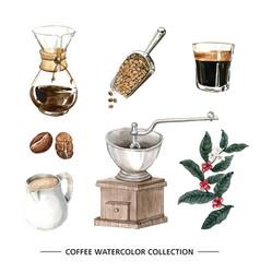 Creative design isolated watercolor coffee vector