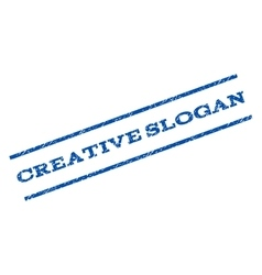 Creative Slogan Watermark Stamp vector