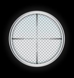Crosshair icon realistic style vector