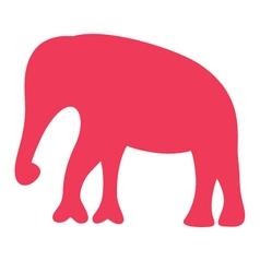Cute beautiful safari africa elephant silhouette vector