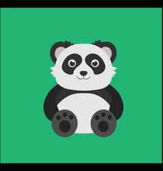 cute panda sitting vector image