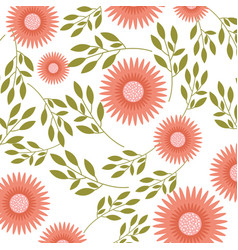 Dahlia flower floral ornament garden pattern vector