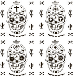 death day pattern mexico style seamless vector image