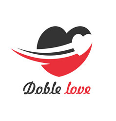double love logo vector image