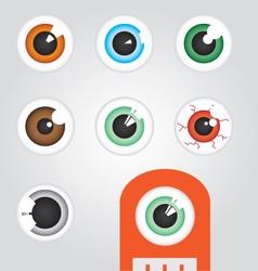 Eye Balls vector image vector image
