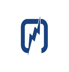 flash logo rhombus design template infinite vector image