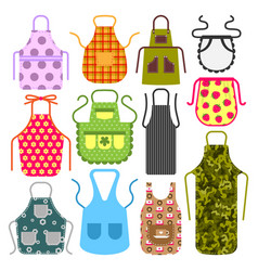 food cooking apron kitchen design clothes vector image