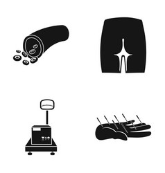 Forester buttock and other web icon in black vector