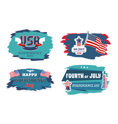 Fourth of july happy independence day banners vector