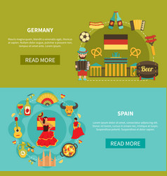 germany spain banners set vector image