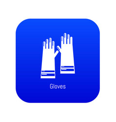 Gloves cleaning icon blue vector