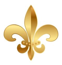 Gold Fleur-de-lis ornament vector