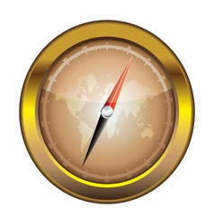 gold retro compass vector image