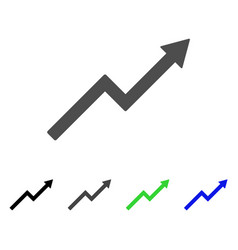 growth trend chart icon vector image