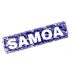 Grunge samoa framed rounded rectangle stamp vector