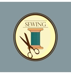 Hand drawn sewing lable vector