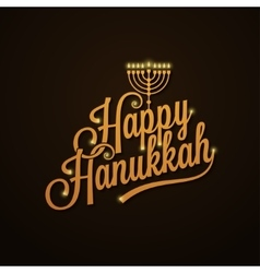 Hanukkah Vintage Lettering design Background vector