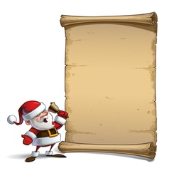 Happy Santa Scroll Ho Ho Ho vector image