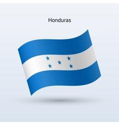 Honduras flag waving form vector image