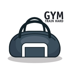 Icon sport bag gym design vector