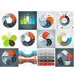 infographics templates set template vector image