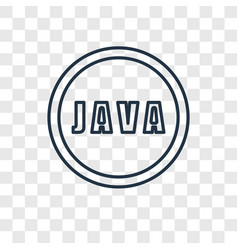 Java concept linear icon isolated on transparent vector
