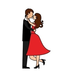 Lovers couple characters icon vector