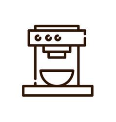 Machine coffee maker cup line design vector