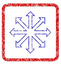 Maximize arrows grunge framed icon vector