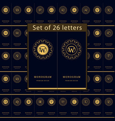 monogram design elements graceful template set vector image