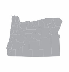 Oregon state counties map vector